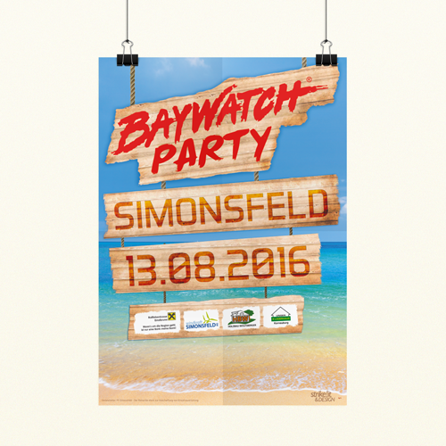 Baywatch Party Poster